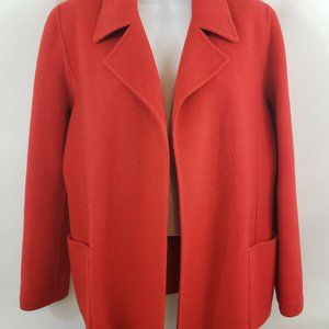 Anne Klein Red Wool Open Oversized Jacket